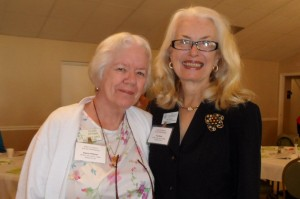Photos submitted by Patricia Serio. (L-R) Club Volunteer of the Year, Elaine Pittman being congratulated by Pat Serio
