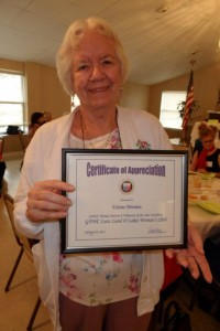 Photos submitted by Patricia Serio. Club Volunteer of the Year, Elaine Pittman