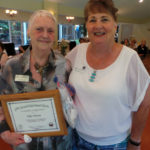 Elda Moyer Presented with a Certificate of Appreciation