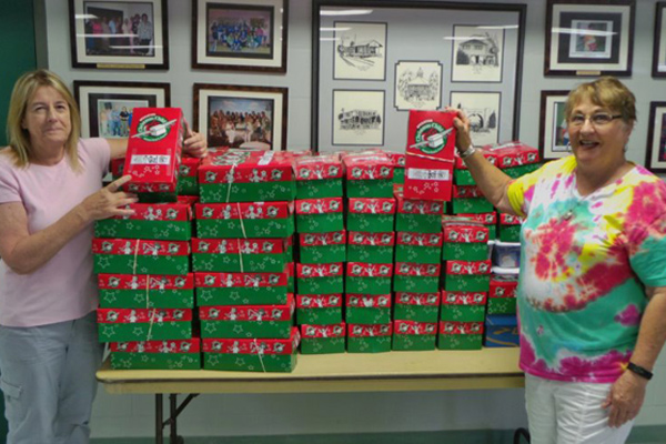 Shoeboxes for Operation Christmas Child