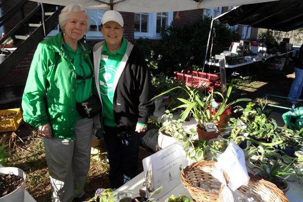 Plant Lady Elaine Pittman with member Edwina Kraemer