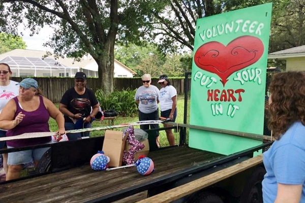 Lutz-Land O'Lakes Woman's Club Parade Float for July 4th Celebration
