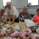 Making Comfort Pillows for Hospital Patients