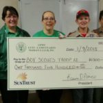 President and Lutz Arts and Crafts Show Directors Present Donation to Boy Scouts